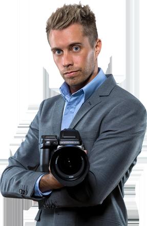 Fotograf Markus P i Örebro, porträttbild