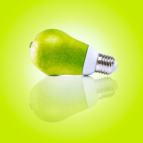 päron glödlampa