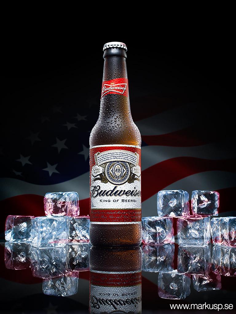 Budweiser ölflaska
