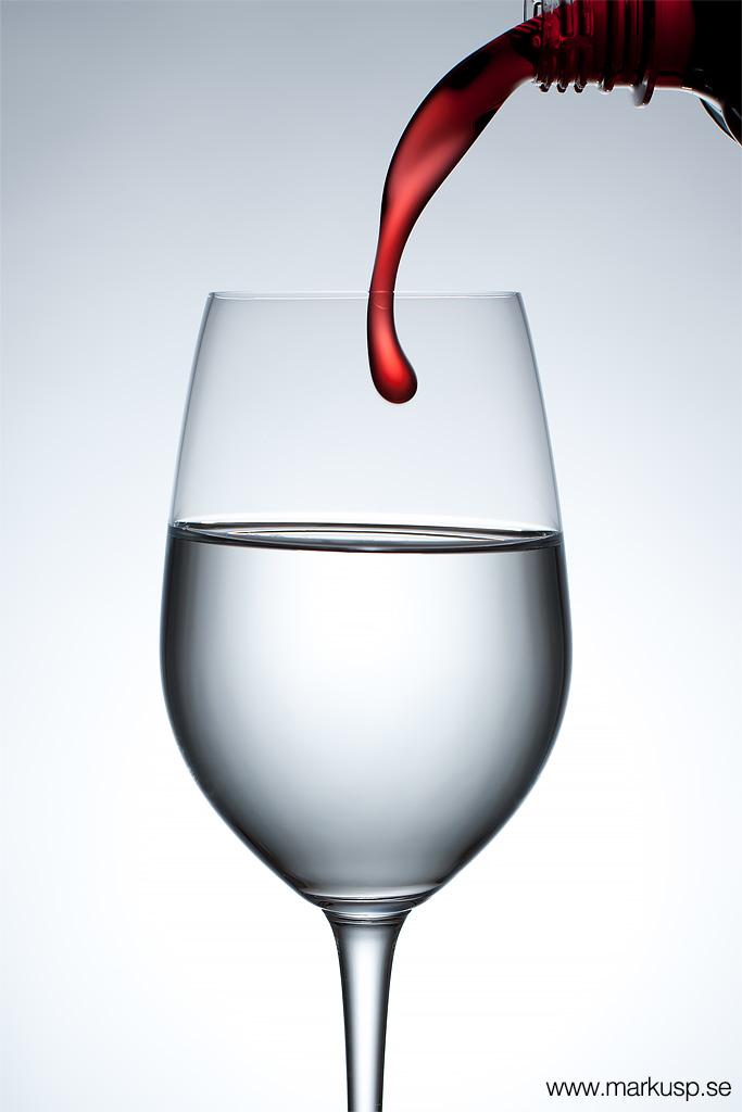 Vattenglas och saft
