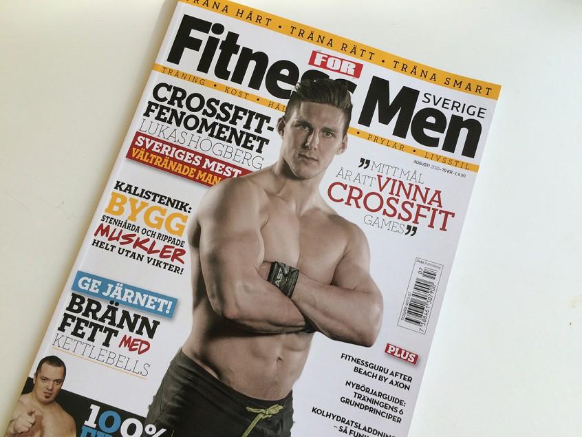 Reportage om Lukas Högberg i FItness For Men, foto av Fotograf Markus P