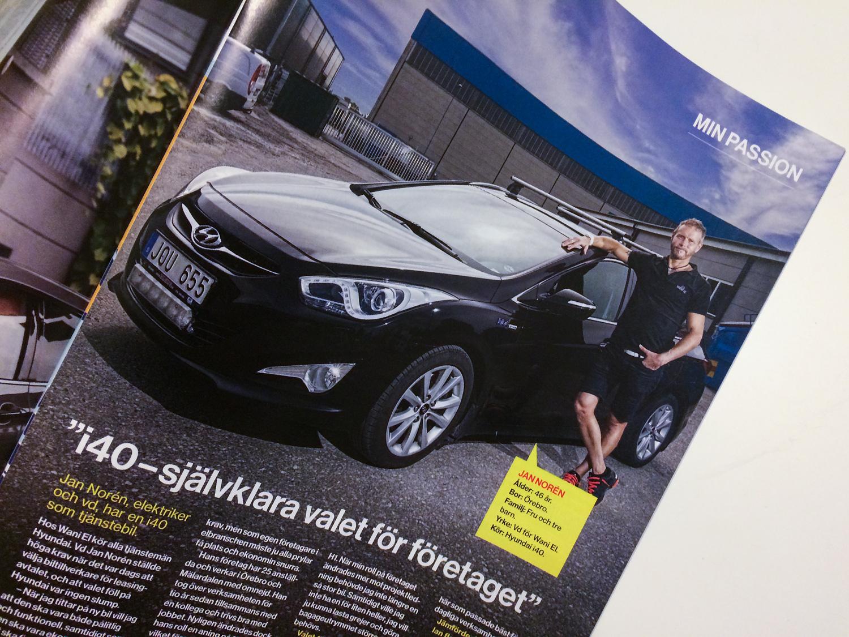 Fotograf Markus P Örebro, redaktionell fotografering åt Hyundai kundtidning