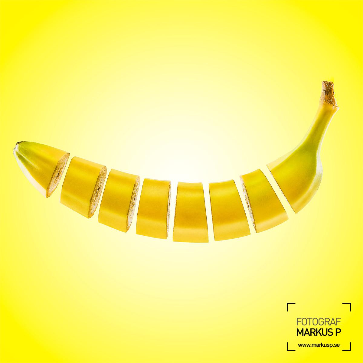 Sliced banana compositing