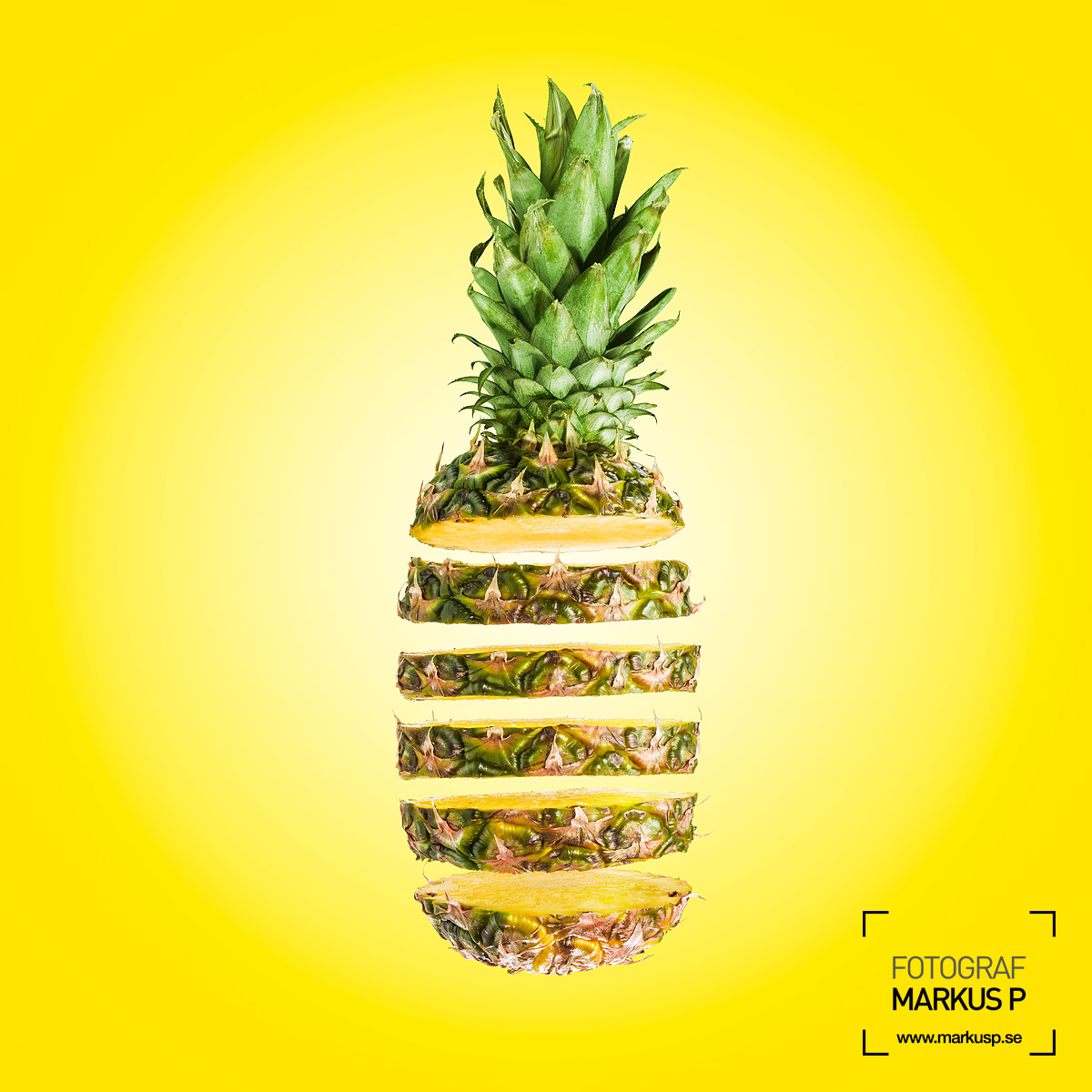 Sliced pineapple photo compositing