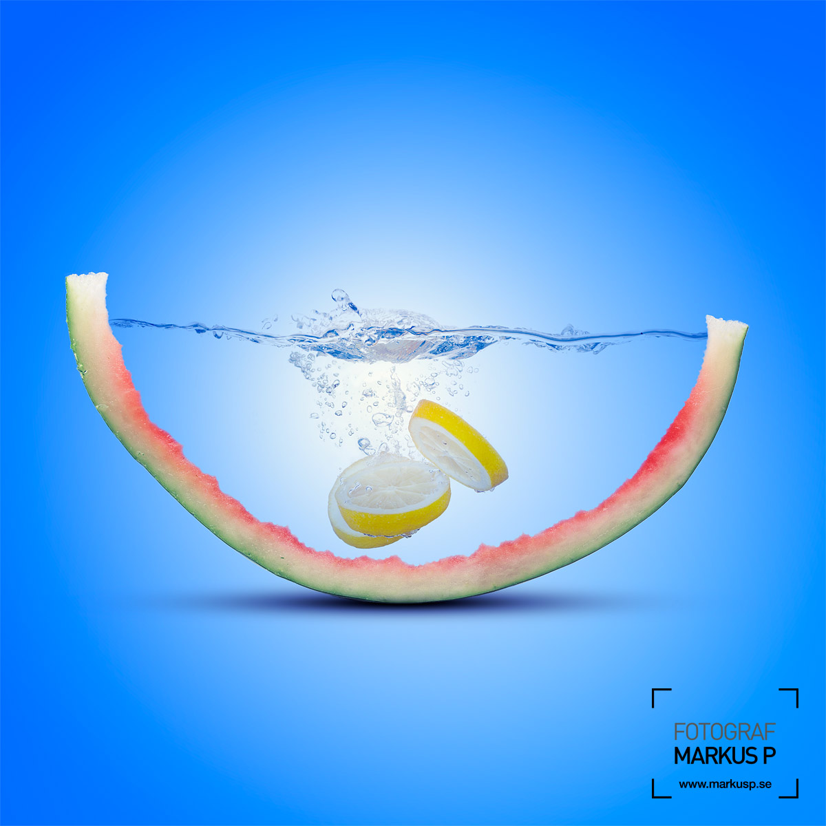 Water melon photo compositing