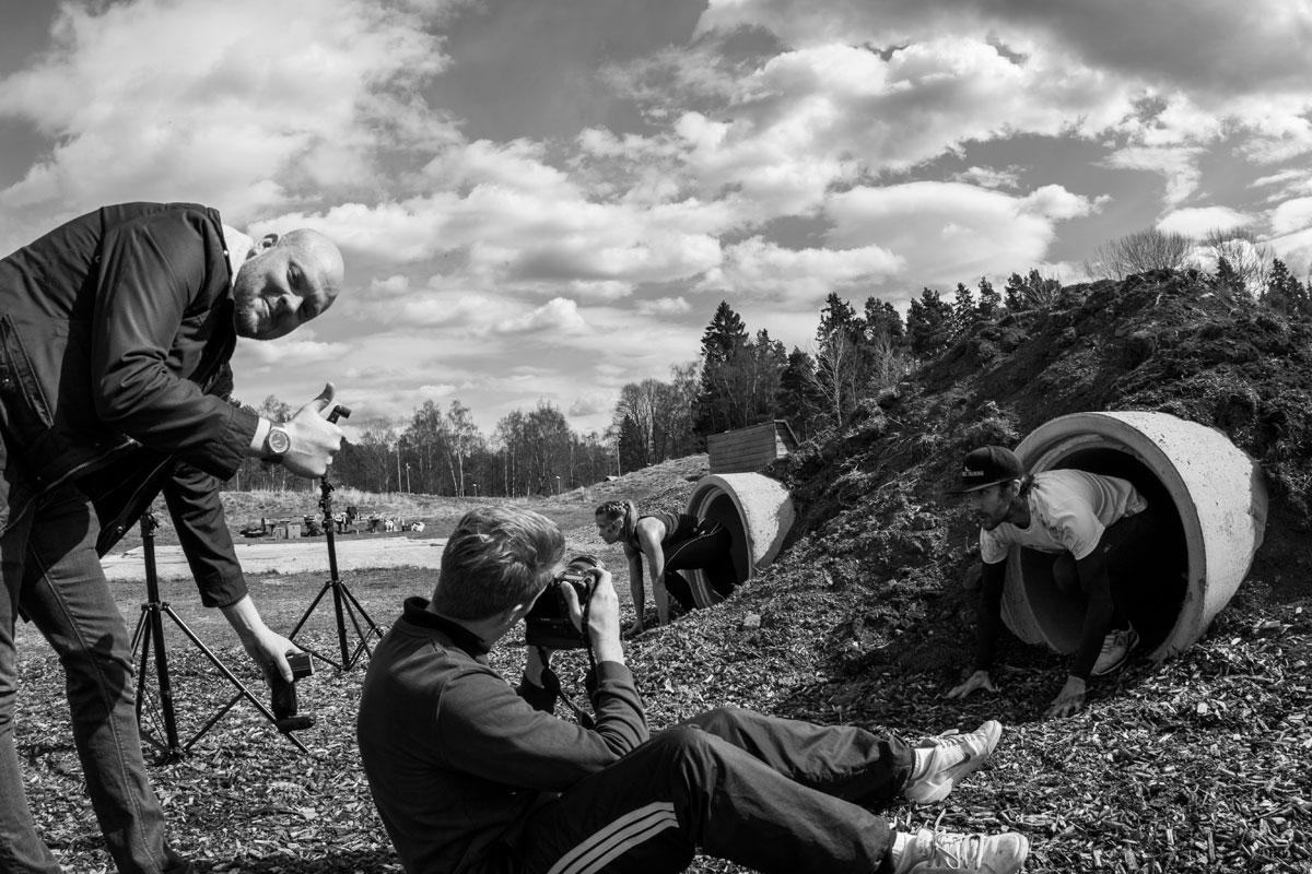 Bakom kameran, fotografering för Svenskt Kosttillskott