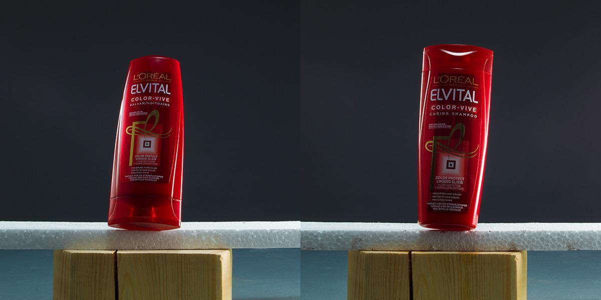 Elvital shampooflaskor torra