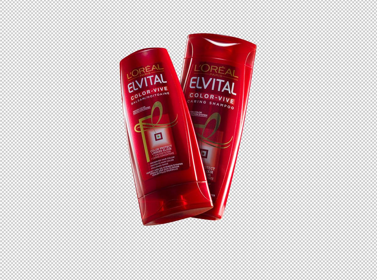 Frilagda shampooflaskor med kurvlager