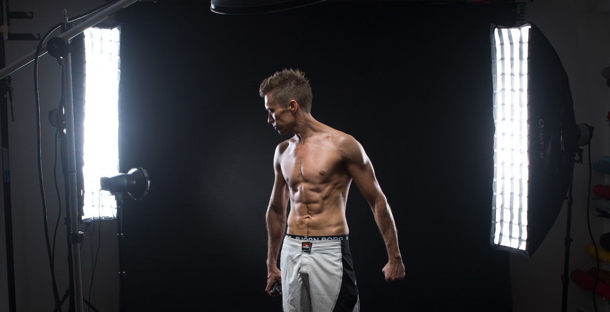 Ljussättning för fitnessbilder i studio
