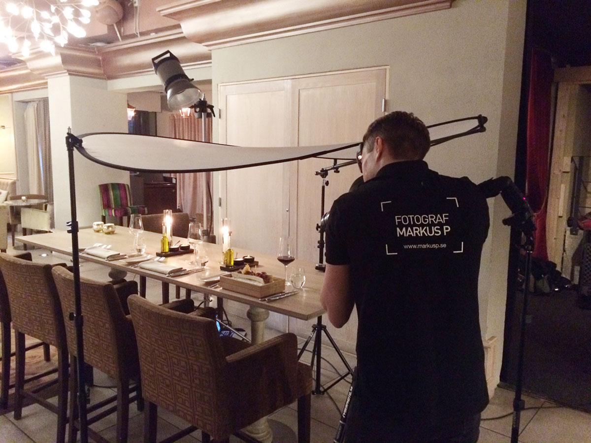 Ljussättning för matfotografering, Makeriet i Örebro.