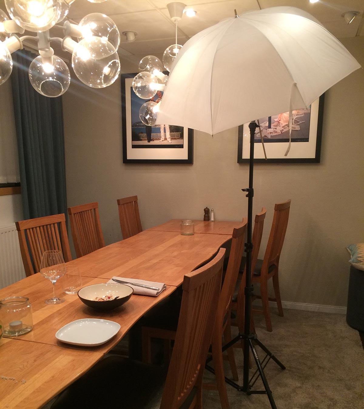 Enkel ljussättning för matfotografering, Fotograf Markus P i Örebro