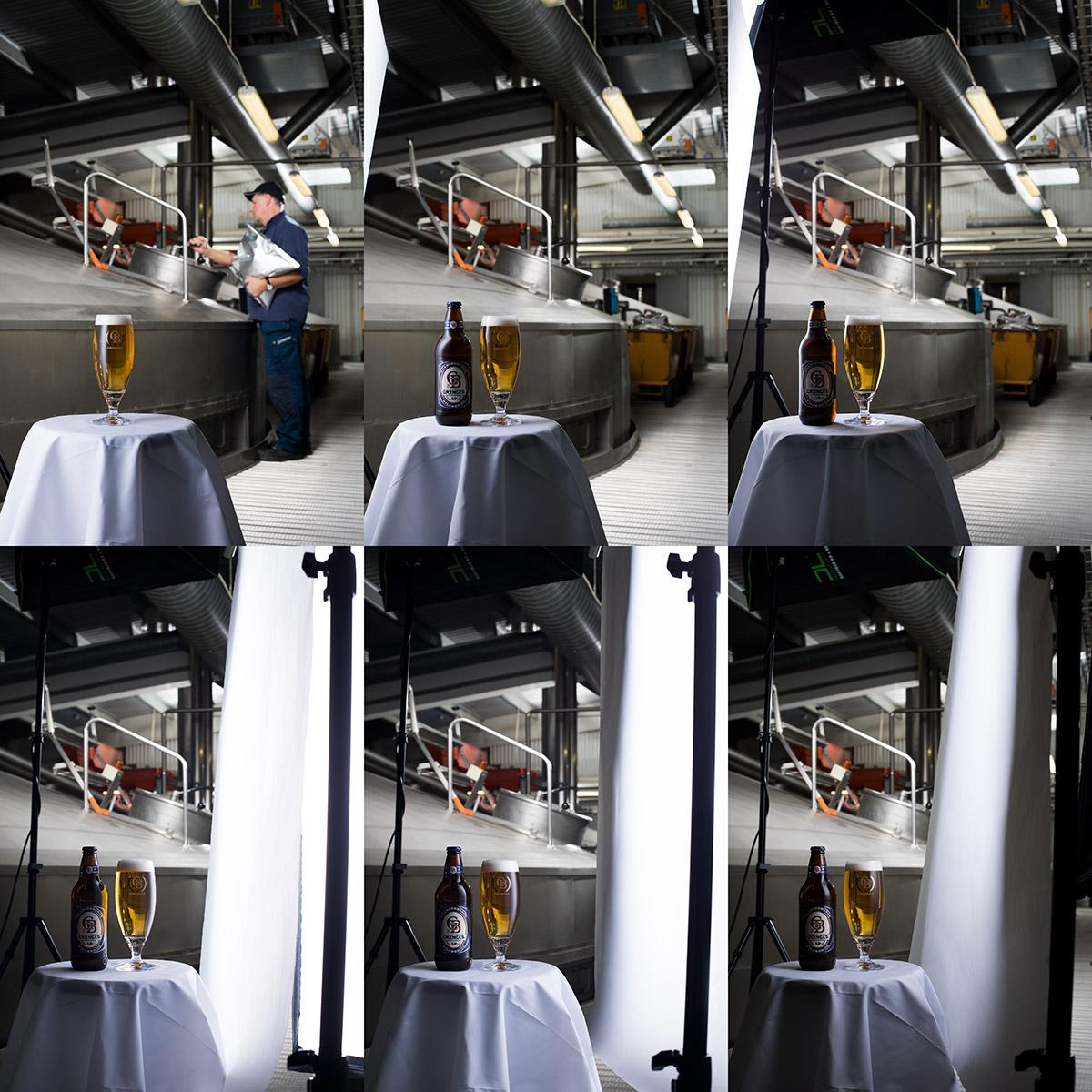 Omslagsbild Spendrups restaurangsortiment 2018, bakom kameran, Grängesberg bryggeri. Bild: Fotograf Markus P