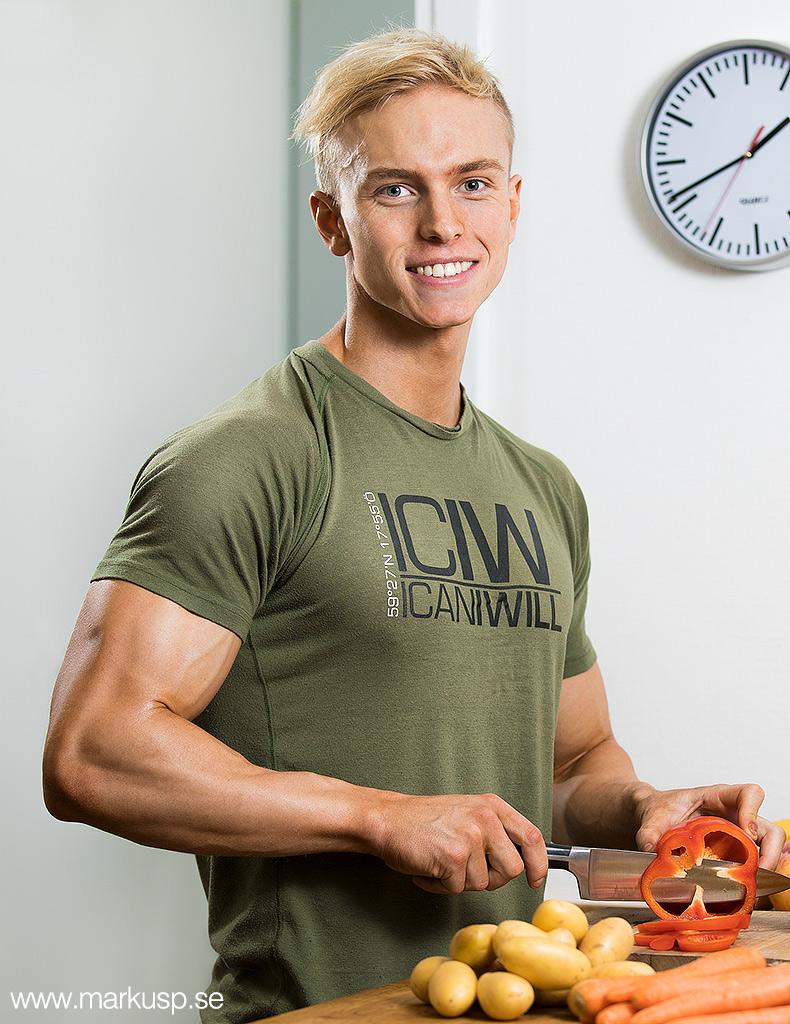 Hampus Botvis porträtt foodprep icaniwill