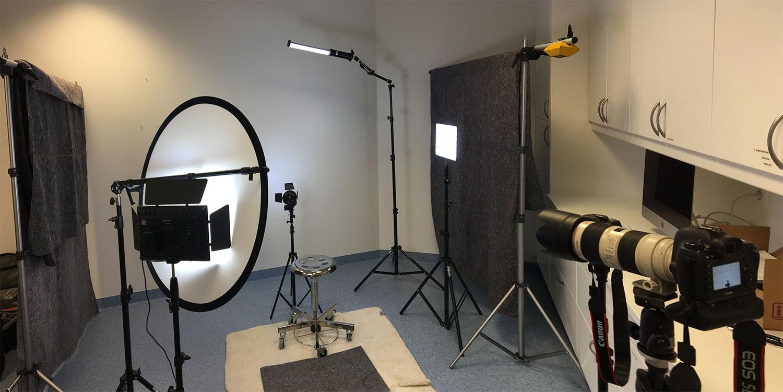 Ljussättning för filmning. Fotograf Markus P i Örebro.