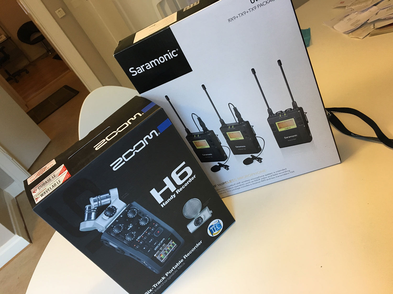 Zoom Handy H6 och Saramonic UwMic9. Fotograf Markus P i Örebro