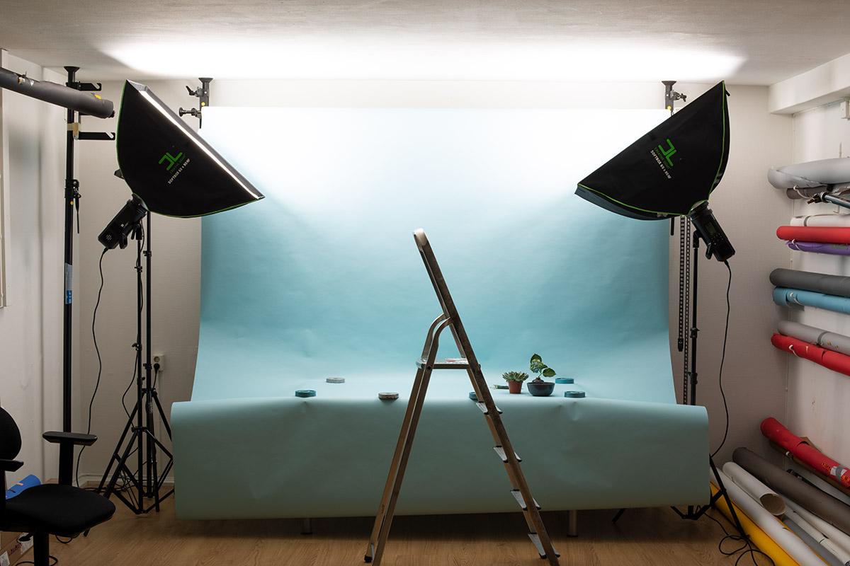 Ljussättning för produktfotografering, flat lay photography